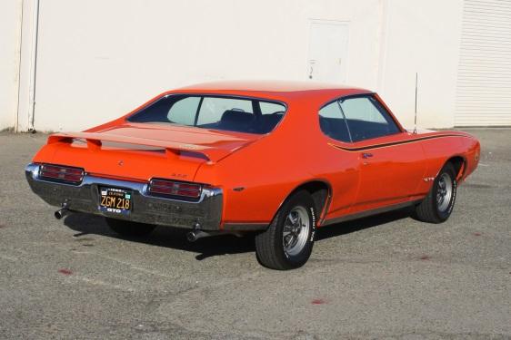 1969 GTO Judge Hardtop - Rear View