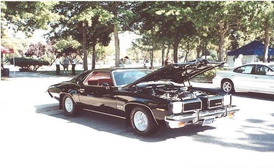 1973 GTO Sport Coupe in Black with Honeycomb Wheels