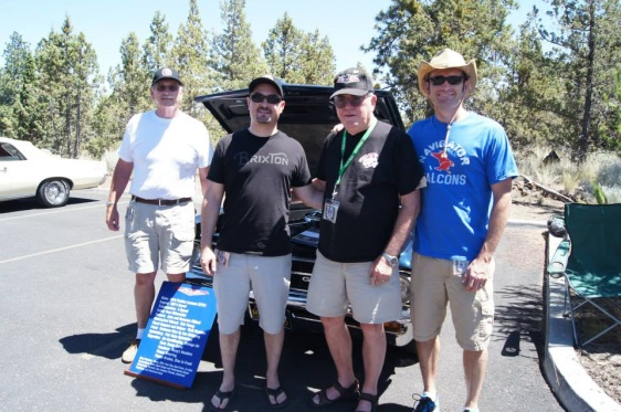 Tiger Run 2013 - Nor Cal GTO Club Members Don W. and John G. with John's sons and his award winning 1964 GTO behind them.
