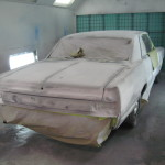 1965 GTO in the paint shop