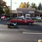 Northern California GTO Club member Leigh drove his 1967 GTO Convertible with the Ben Ali Shriners in the Folsom Veteran's Day Parade on November 11th, 2014