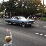 Northern California GTO Club member Rick and his 1965 GTO in the Folsom Veteran's Day Parade on November 11th, 2014.