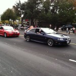 Northern California GTO Club members Robin and Jim in the Folsom Veteran's Day Parade on November 11th, 2014.