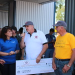 Nor Cal GTO Club Tri-Power Presidents Mike Hart and John Paval presented a $300 check from the club to Make-A-Wish