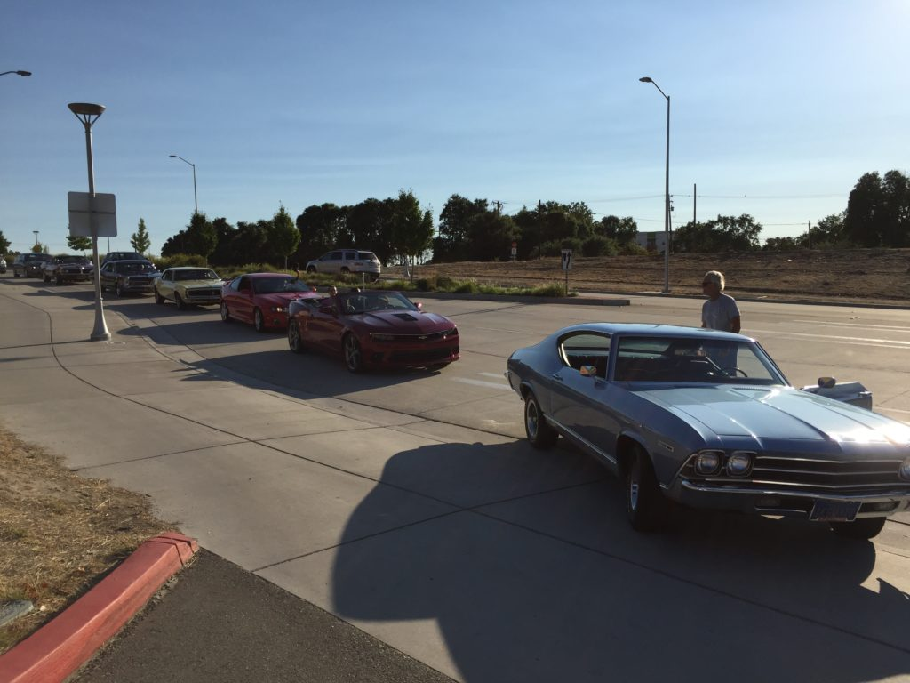 Staging for the cruise around Raley Field on July 8th, 2017
